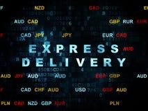 Concept d'affaires : La livraison express sur numérique Photos stock