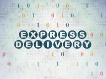 Concept d'affaires : La livraison express sur numérique Images libres de droits