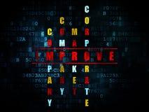 Concept d'affaires : le mot s'améliorent dans la solution Photos stock