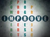Concept d'affaires : le mot s'améliorent dans la solution Photographie stock