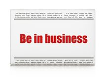 Concept d'affaires : le titre de journal soit dans les affaires Image libre de droits