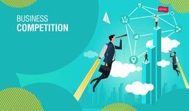 Concept d'affaires Les experts en matière de démarrage d'affaires de concept créent des affaires nouvelles illustration libre de droits