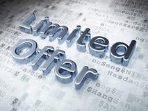 Concept d'affaires : Offre de Silver Limited sur numérique Photographie stock libre de droits
