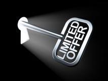 Concept d'affaires : Offre limitée sur la clé Photos libres de droits
