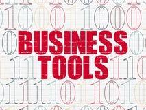 Concept d'affaires : Outils d'affaires sur le mur Photos libres de droits