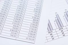 Concept d'affaires Plan rapproché financiers et de documents comptables photos libres de droits