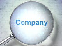 Concept d'affaires : Société avec le verre optique Photo libre de droits