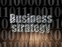 Concept d'affaires : Stratégie commerciale dans l'obscurité grunge Photos libres de droits