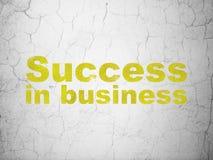 Concept d'affaires : Succès dans les affaires sur le fond de mur Images stock