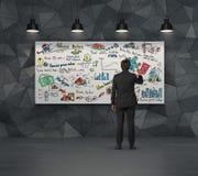 Concept d'affaires sur la plaquette Photo libre de droits