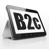 Concept d'affaires : Tablette avec B2c sur l'affichage Images libres de droits