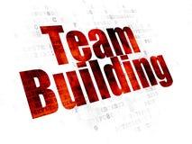 Concept d'affaires : Team Building sur le fond de Digital Photographie stock