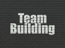 Concept d'affaires : Team Building sur le fond de mur Image libre de droits