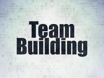 Concept d'affaires : Team Building sur le fond de papier de données numériques Image libre de droits