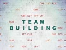 Concept d'affaires : Team Building sur le fond de papier de données numériques Photo stock