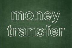 Concept d'affaires : Transfert d'argent sur le fond de tableau photos libres de droits