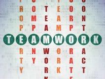 Concept d'affaires : travail d'équipe de mot dans la solution Photographie stock