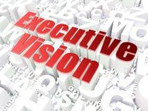 Concept d'affaires : Vision exécutive sur l'alphabet Images libres de droits