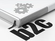Concept d'affaires : vitesses de livre, B2c sur le blanc Photo libre de droits