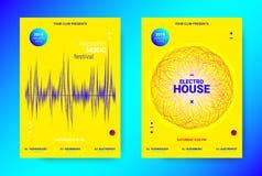 Concept d'affiche de musique de vague Insecte sain électronique illustration de vecteur