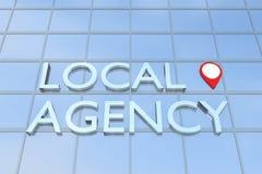Concept d'agence locale illustration de vecteur