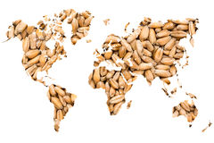 Concept d'agriculture de carte du monde Photographie stock libre de droits