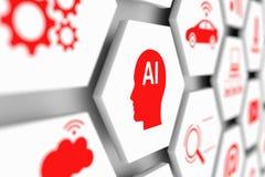 Concept d'AI Image stock