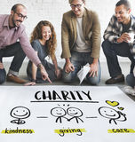 Concept d'aide de part de la Communauté de charité Image stock