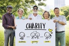 Concept d'aide de part de la Communauté de charité Images libres de droits