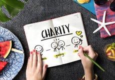 Concept d'aide de part de la Communauté de charité Image libre de droits