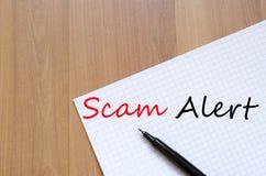 Concept d'alerte de Scam Image libre de droits