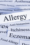 Concept d'allergie images stock