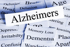 Concept d'Alzheimers horizontal Image stock