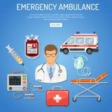 Concept d'ambulance de secours médical Image libre de droits