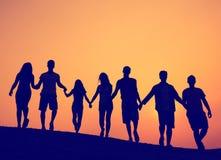 Concept d'amis d'unité d'unité d'amitié Photographie stock