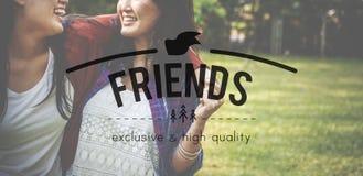 Concept d'amitié de compagnie de relation d'amitié d'amis Images libres de droits