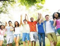 Concept d'amitié de succès de bonheur d'amitié d'amis Image libre de droits
