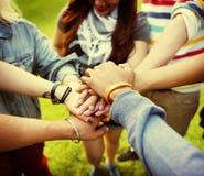 Concept d'amitié de Team Teamwork Relation Together Unity Photos stock