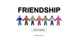 Concept d'amitié sur le fond blanc illustration stock