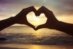 Concept d'amour à la main Image stock