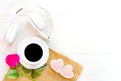 Concept d'amour avec du café Images stock