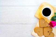 Concept d'amour avec du café et le biscuit Photos libres de droits