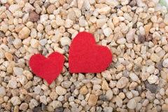 Concept d'amour avec l'icône en forme de coeur Photos libres de droits