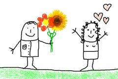 Concept d'amour avec la fleur illustration libre de droits