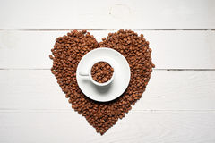 Concept d'amour de café Photo stock
