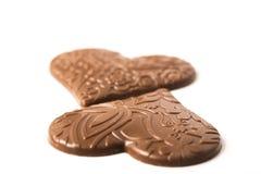 Concept d'amour de coeur de chocolat Photos stock