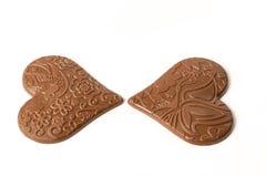 Concept d'amour de coeur de chocolat Images libres de droits
