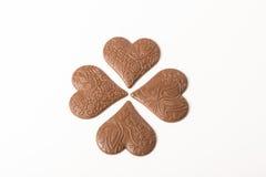 Concept d'amour de coeur de chocolat Images stock