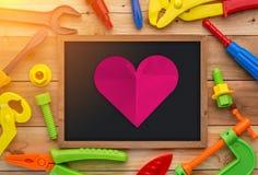 Concept d'amour de coupe de papier de forme de coeur jpg Photos libres de droits