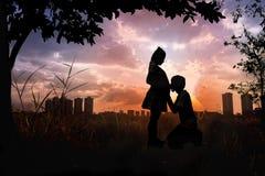 Concept d'amour de couples Photos libres de droits
